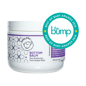 Baby Pibu's Bottom Balm with the Bump logo