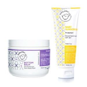 bottom balm and sunscreen for babies