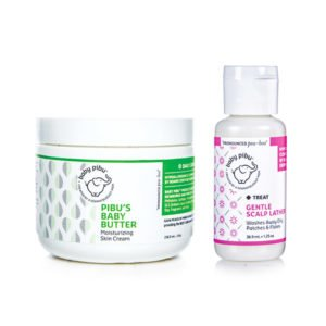 baby pibu shampoo and ezcema cream