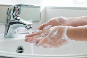Hygiene. Cleaning Hands. Washing hands. avoid antibacterial soaps with triclosan