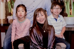 Photo of Dr. Amy with her husband and children