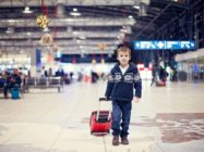 little boy at airport